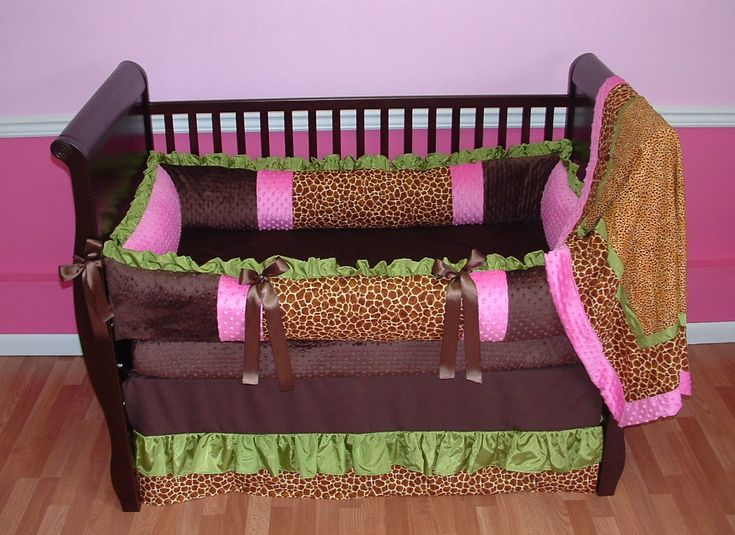 safari girl baby bedding this custom baby bedding set includes ruffled bumper with minky and giraffe