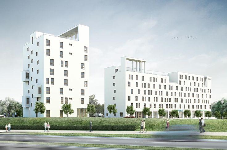 Χρωματα και Αρχιτεκτονική Άλλο ένα ενδεικτικό παράδειγμα της σχολής ότι οι σύγχρονες και μοντέρνες κατασκευές εκφράζονται μέσα από το λευκό
