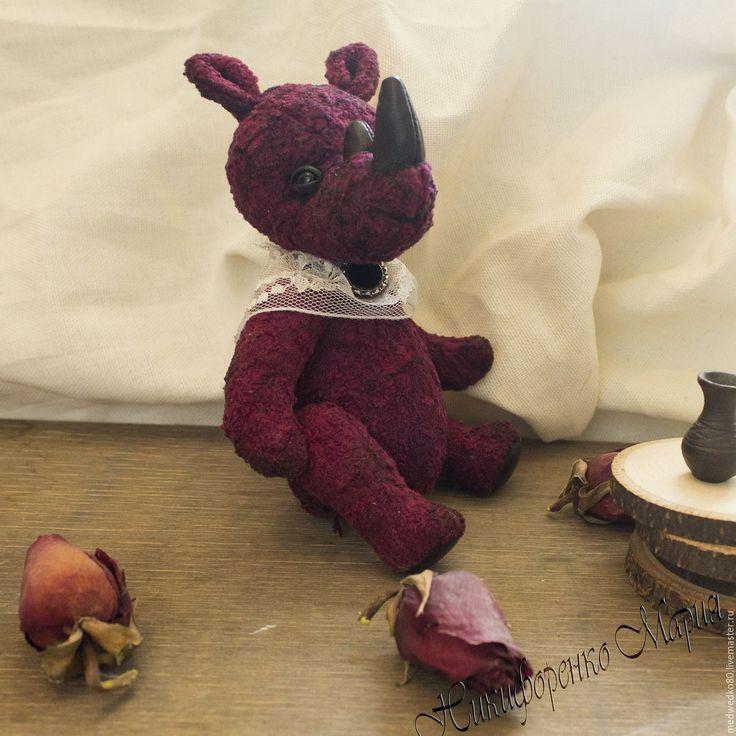 Купить Носорожек тедди Глебушка - носорог, носорог тедди, носорожек, носорожек тедди, тедди  #teddy #teddy_rhinoceros #rhinoceros #MEDWEDKO #toy_rhinoceros