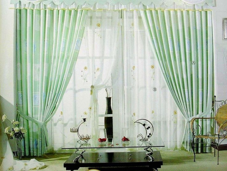 Curtains Ideas curtains for a green room : living room curtain design with light green color ideas for living ...