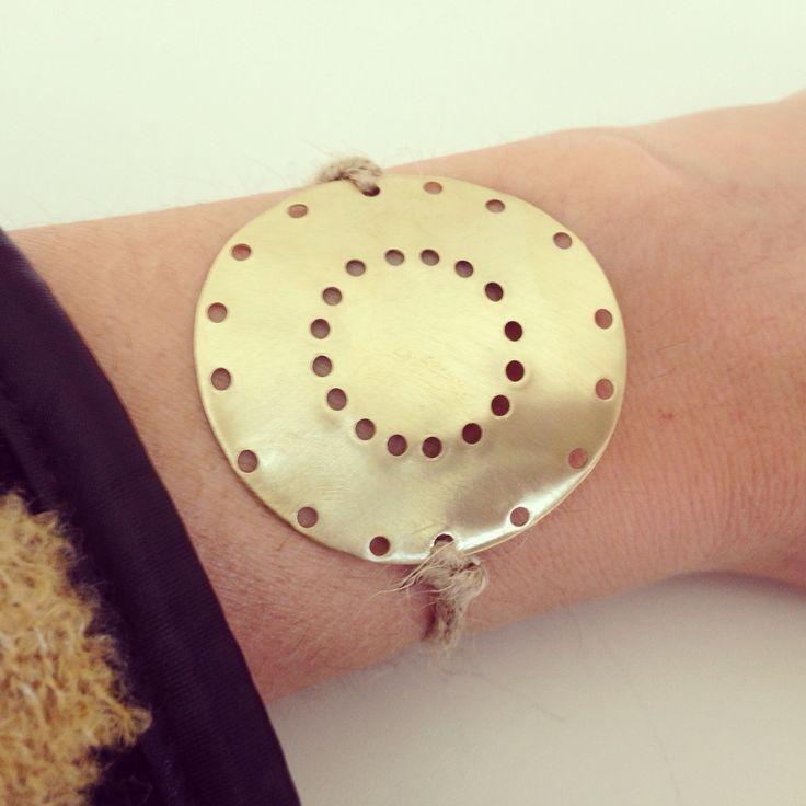 Brass gold plated bracelet