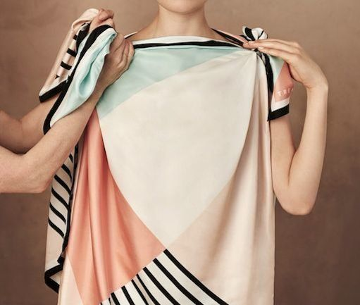 Make a top out of a silk scarf in 3 easy steps