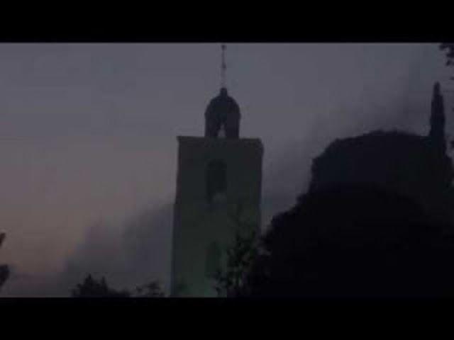 Η εμφάνιση της Αγίας Νεφέλης στην Ιερά Αγρυπνία στο Όρος Θαβώρ κατά την εορτή της Μεταμορφώσεως (...