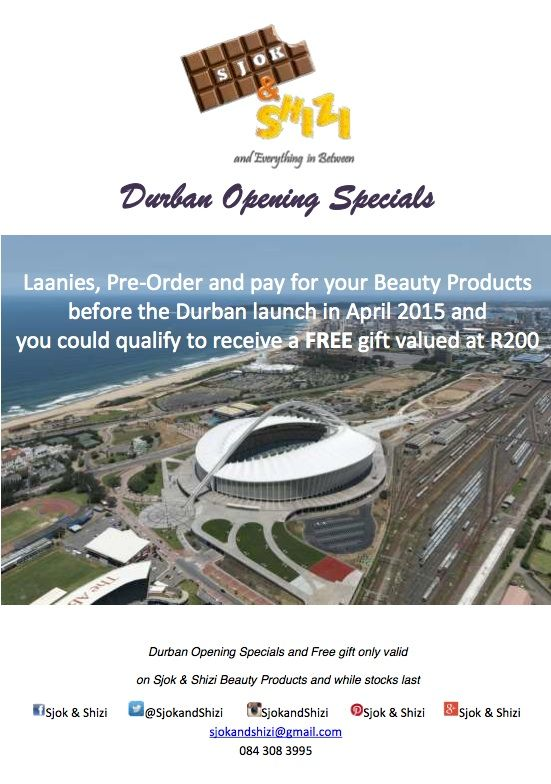 Durban Opening Specials
