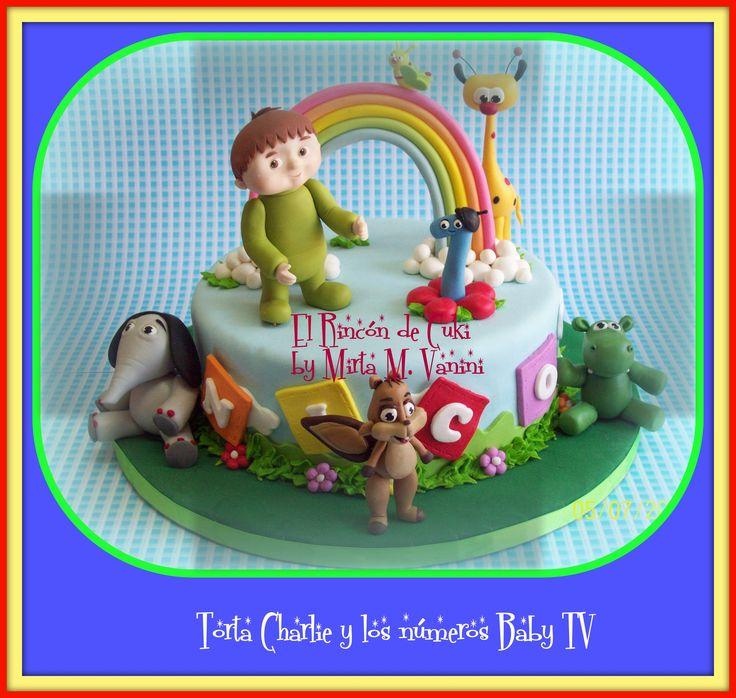 TORTA CHARLIE Y LOS NUMEROS BABY TV