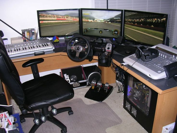 Gaming Computer Desk 1 Every Guy Needs a Gaming Room Pinterest