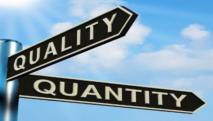 Quantity vs. Quality: where is the intersection?