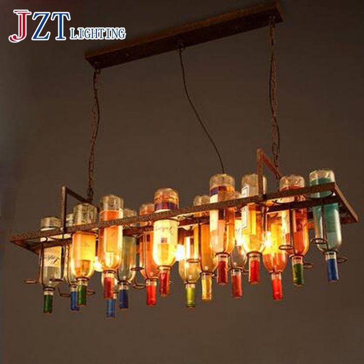 T LOFE Metalen Creatieve Nieuwigheid Verlichting Fles Vorm Persoonlijkheid Hanger lichten Voor Eethuis Bar 9 W met Led-lampen Hoogte 10 cm(China (Mainland))