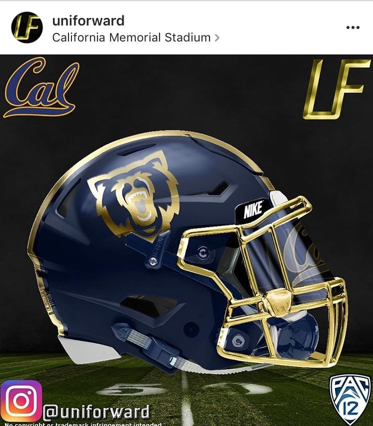Alternate Cal Golden Bears Football helmet design
