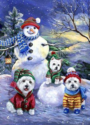 Westie Christmas Cards