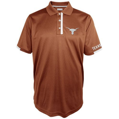 Majestic Men's University of Texas Section 101 First Down Polo Shirt