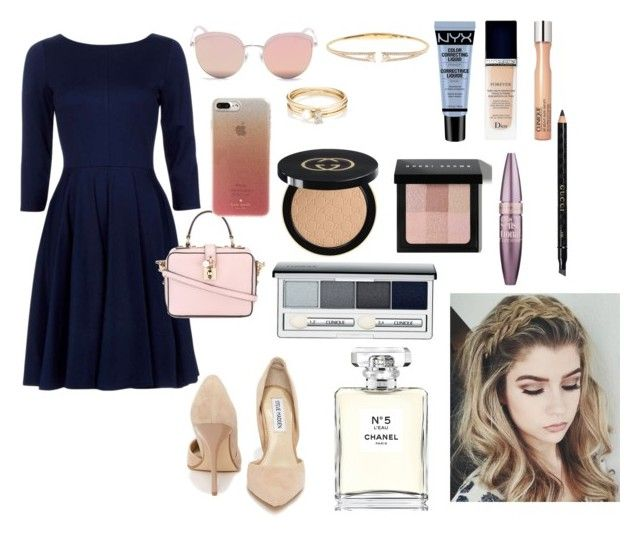 """Untitled #518"" by pattieduraes on Polyvore featuring Steve Madden, Dolce&Gabbana, Nadri, Stephane + Christian, Kate Spade, Loren Stewart, NYX, Christian Dior, Clinique and Gucci"