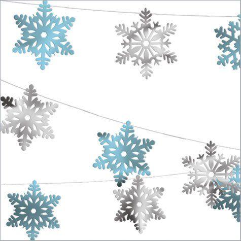 30m décoration de Noël , Guirlande Flocons de neige , en aluminium Amscan International ltd http