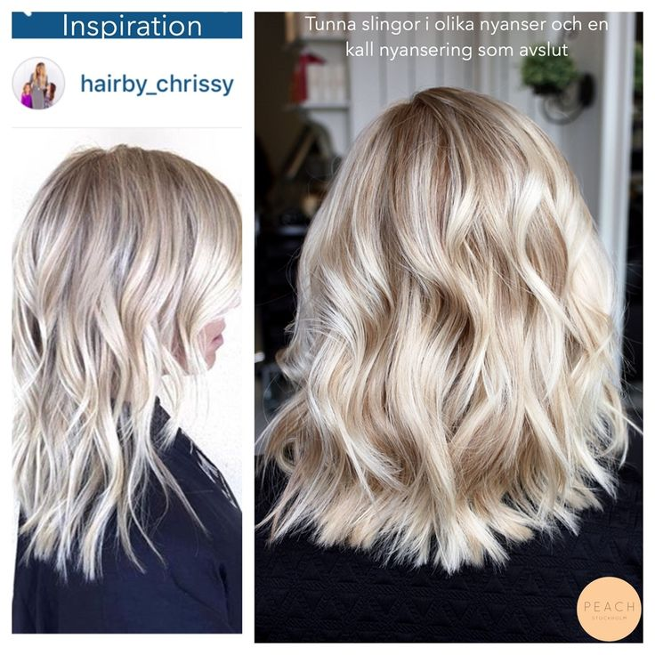 Slingor blont hår