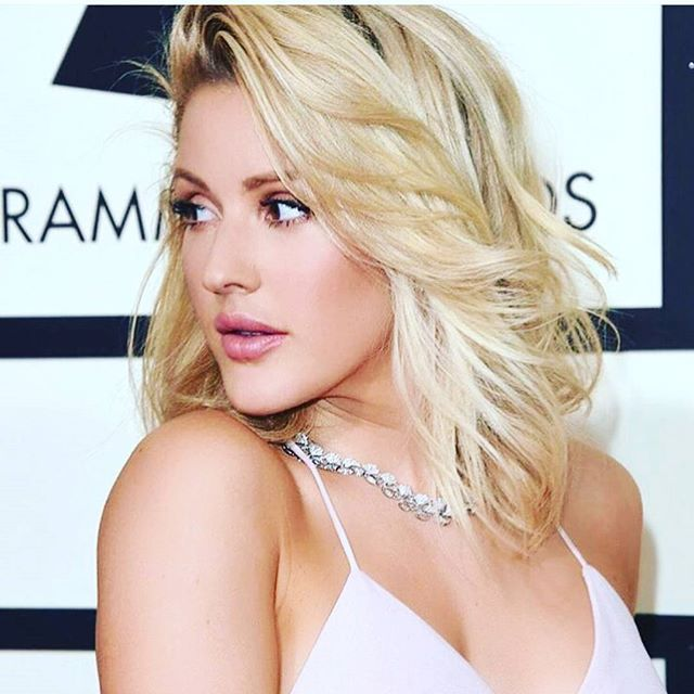 Ellie Goulding is beautiful !!! Grammys 2016