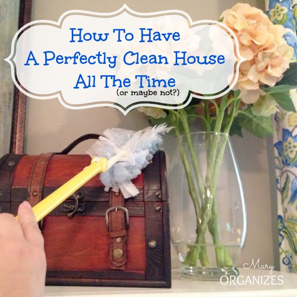 How to have a perfeclty clean house all the time ...or something like that!