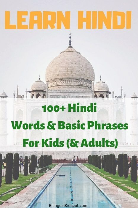100 Hindi Words and Basic Phrases for Kids & Adult…