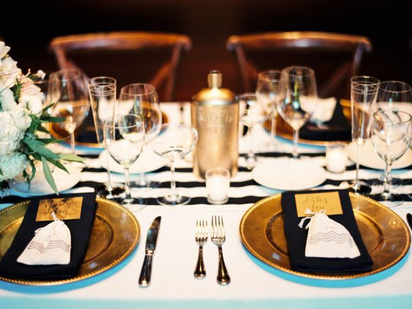 ... Me Pretty U2013 Jaclyn U0026 Pete   I Love The Color Palette For This Wedding U2013  Black And White With Touches Of Gold. Our Black And White Stripe Table  Runners ...