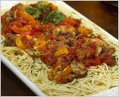 Dreamfields Pasta's Rustic Sausage and Angel Hair