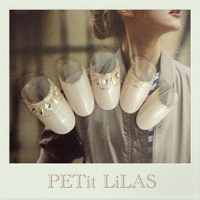 パールベージュフレンチネイル♡ Privatenail PETit LiLAS プティリラ ご予約はmail…