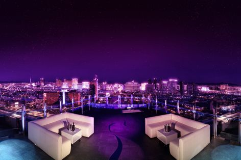 Ghostbar, Las Vegas, America - You need luck, skill and a lot of money to get a seat at the big tables in Vegas – but at Ghost Bar, you're a winner from every angle. The outdoor terrace on the Palms Hotel's 55th floor has 360 degree views of Sin City. Look down on the crowded Strip from this swish bar's outdoor or indoor areas. The 14 foot floor to ceiling glass windows give guests inside the bar an excellent vantage point too. So order a Lucky Charm or two and get ready to party.