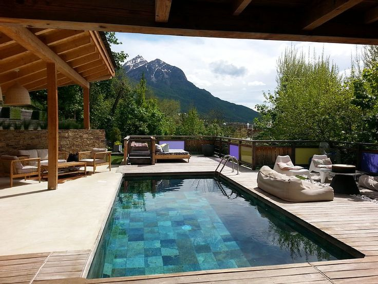 142 best ambiance piscine images on Pinterest Swimming pools - location chalet avec piscine interieure