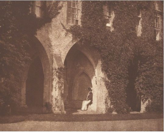 Calotype. William Henry Fox Talbot The Ancient Vestry, Calvert Jones in The Cloisters at Lacock Abbey, 1845 Robert Klein Gallery