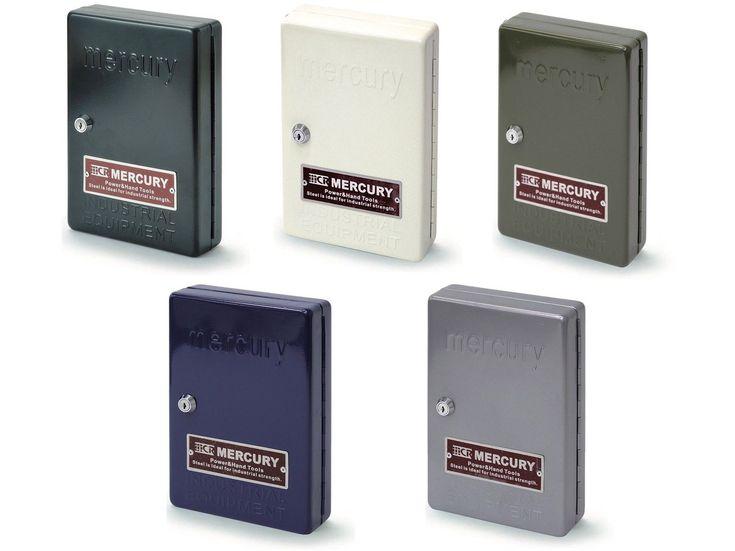 Keystone Mercury Key Locked Secure Metal Key Box Cabinet Safe + 24 Hooks