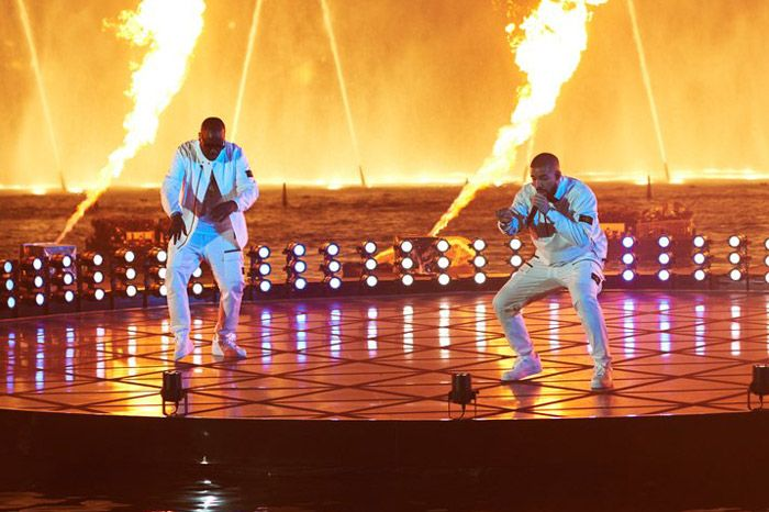 """Drake took a page out of Britney Spears' playbook and performed at the 2017 Billboard Music Awards in front of the legendary Bellagio fountains. Complete with fireworks and fire cannons, Drake performed his 'More Life' hit """"Gyalchester. It was definitely one of the more memorable performances of the night. Check it out below! Bonus: Get …"""
