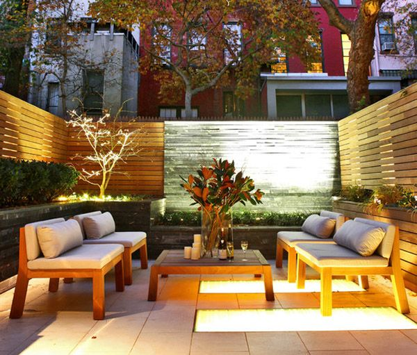 Best Townhouse Patio Images On Pinterest Fence Landscaping - Townhouse patio