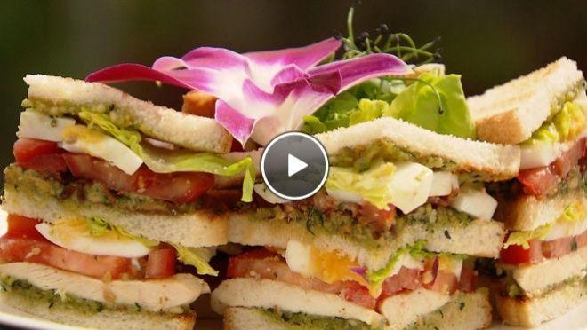 Gegrilde clubsandwich met Rock Chives en Mustard Cress - recept | 24Kitchen