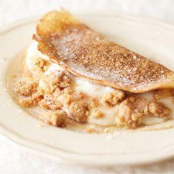 Milk tart pancakes - Cinnamon sugar pancakes with a creamy milk tart filling