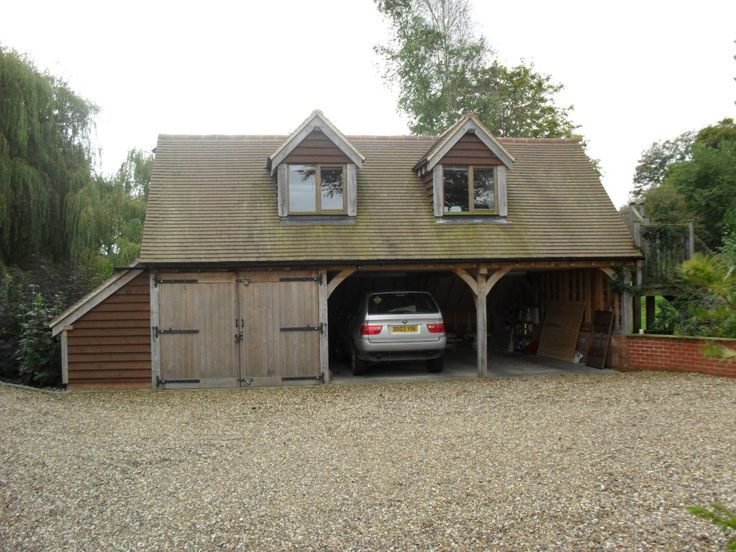 3 Bay Oak Garage With A Student Flat Annex Above Timber