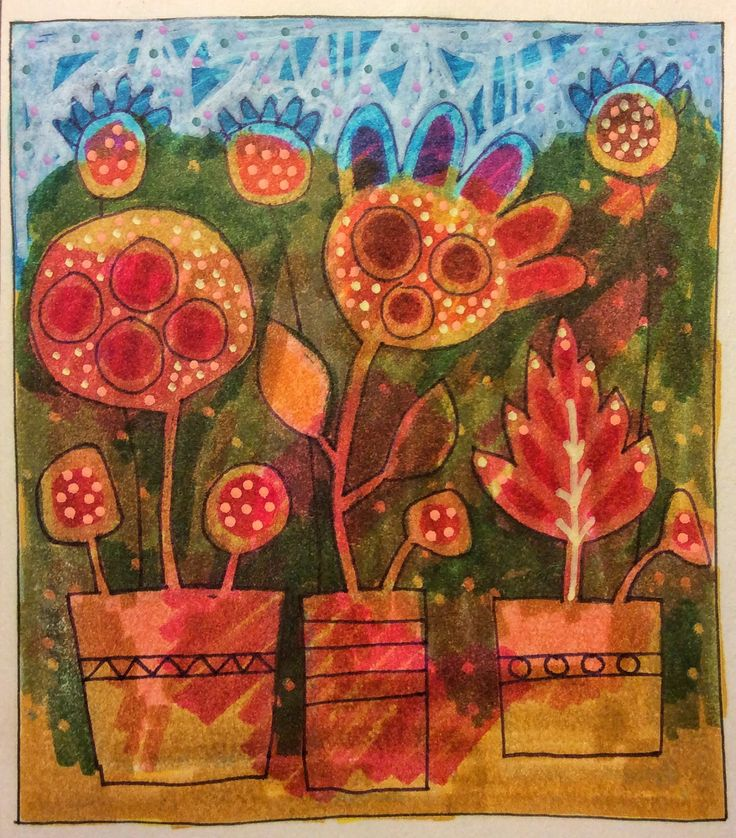 Michèle Brown Artist - The Old Cells Studio: Two flowery sketches