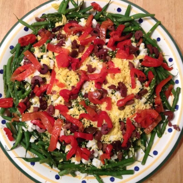 Green Beans & Asparagus Mimosa Salad | Good foods | Pinterest