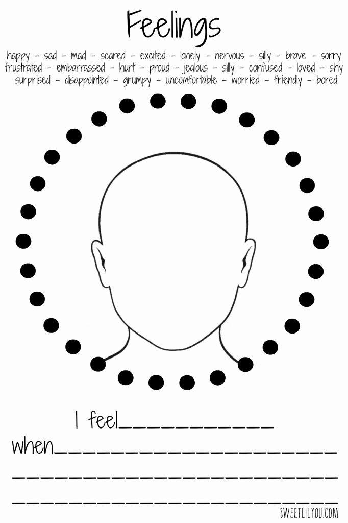 Feelings Worksheet For Preschool Student Kindergarten Worksheets Emotions Feelings Activities Feelings worksheets for kindergarten