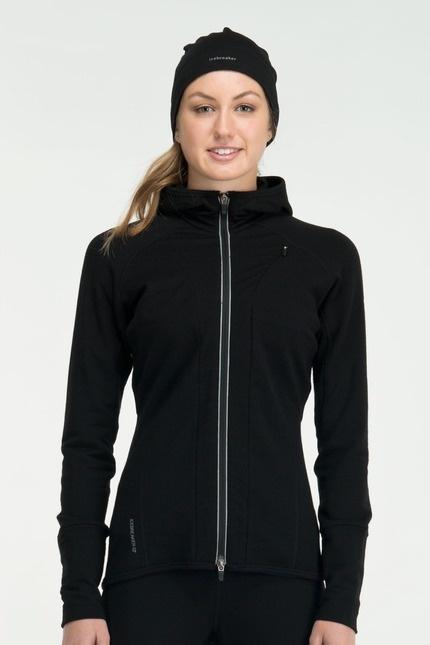 Quantum Long Sleeve Zip Hood - Merino