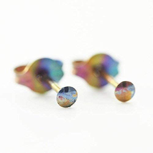 i-Dot 2mm Anodized Niobium Post Earrings