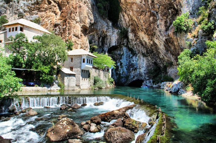 Blagaj, Bosnia and Herzegovina  Blagaj stands at the edge of the beautiful Buna river.