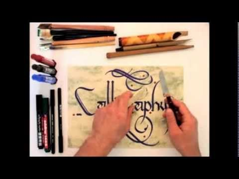 Calligraphy tutorial - for beginners - YouTube. Beginner...that's me!