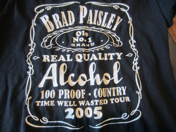BRAD PAISLEY 2005 Alcohol Country Tour Concert Graphic Black Tshirt Men Small #AlstyleApparel #GraphicTee