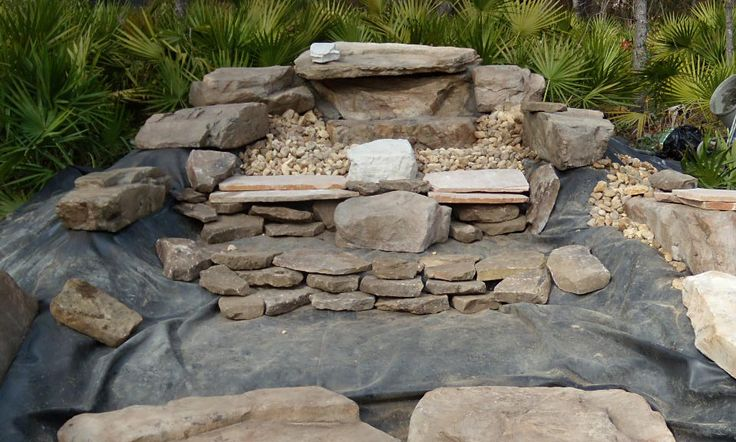 21 best images about rock water fall dry on pinterest for Rock waterfall design
