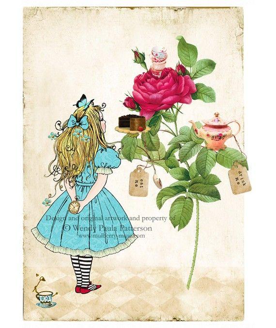 Открытка, открытки алиса в стране чудес
