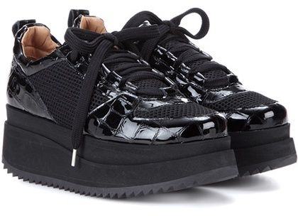 Ganni Mytheresa.com Exclusive Naomi Patent Leather And Mesh Sneakers