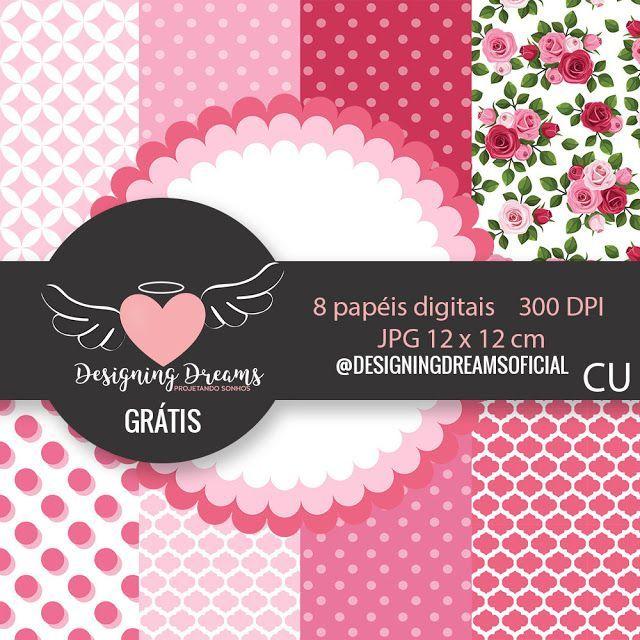 Kit Digital Rose Grátis pra Baixar - Cantinho do blog
