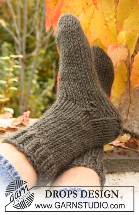 """DROPS Extra 0-713 - DROPS sock in stocking st with rib in """"Eskimo"""". Size 32 - 46 - Free pattern by DROPS Design"""