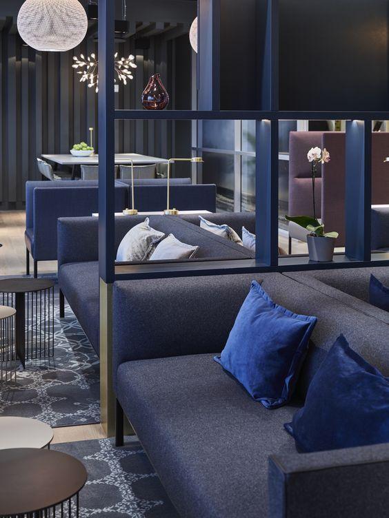 Business Lounge at Stavanger Airport Sola, designed by Metropolis arkitektur & design. Photo: Ragnar Hartvig. www.metropolis.no: