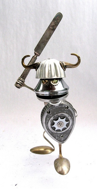 Forg 460- Found Object Robot Assemblage Sculpture by Brian Marshall by adopt-a-bot, via Flickr
