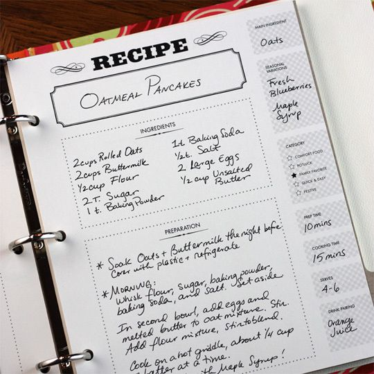 Recipe printable idea