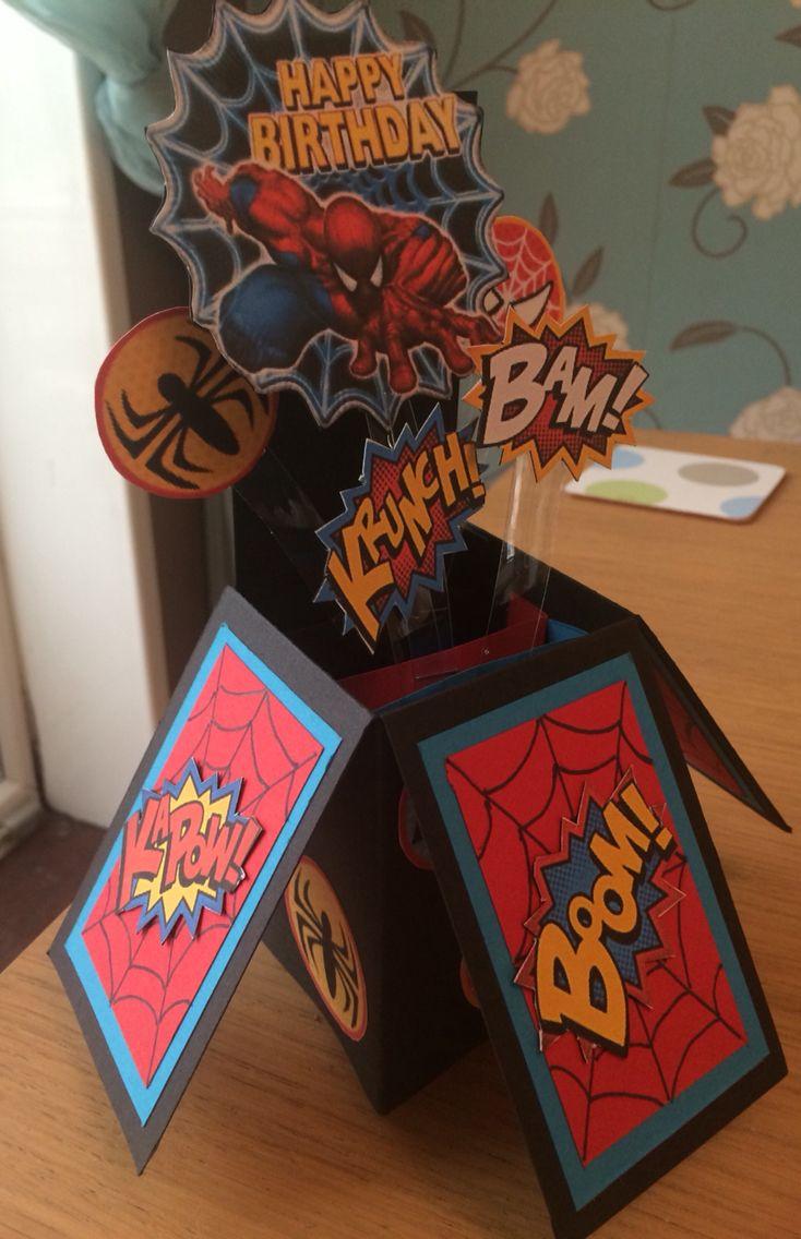 Spiderman Box Card
